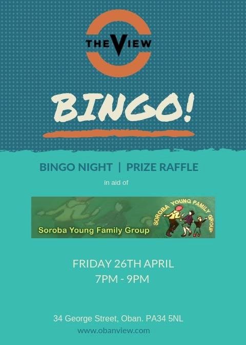 Soroba Young Family Group   Bingo   The View Oban   What's